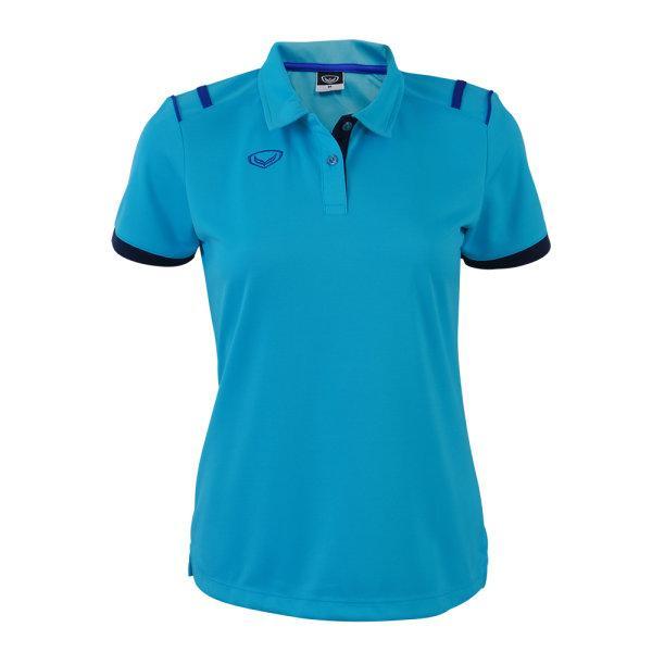 เสื้อโปโลหญิงแกรนด์สปอร์ต รหัส :012767 (สีฟ้า)
