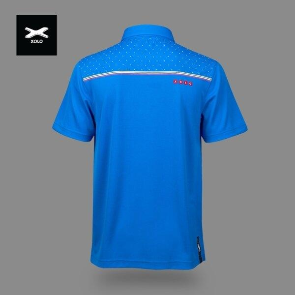 XOLO 3-COLOR STRIPES POLO SHIRT ( Anti-bacterial ) CODE : 040030 (ฺBlue)