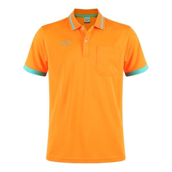 เสื้อโปโลชายแกรนด์สปอร์ต รหัสสินค้า : 012585 (สีส้ม)