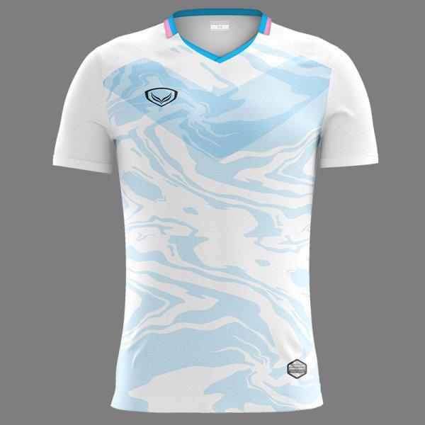 แกรนด์สปอร์ต เสื้อกีฬาฟุตบอลพิมพ์ลาย รหัส : 011483 (สีขาว)