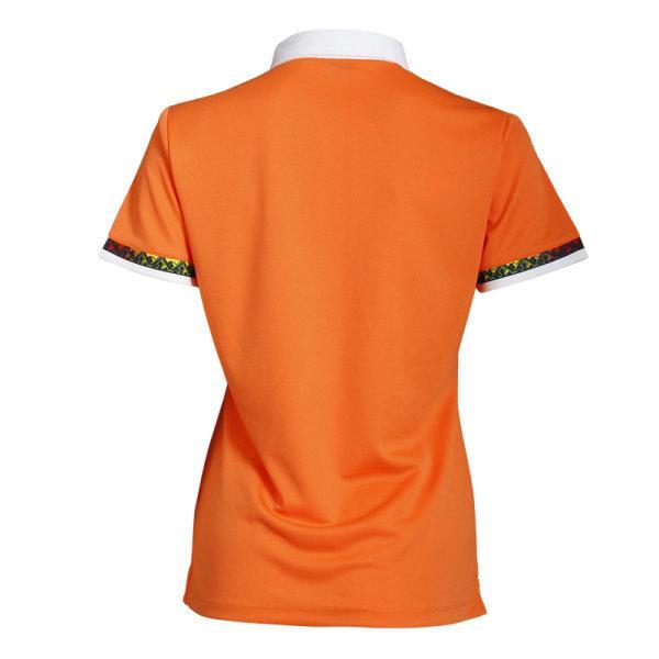 เสื้อโปโลหญิงแขนสั้น (สีส้ม) รหัส : 012746