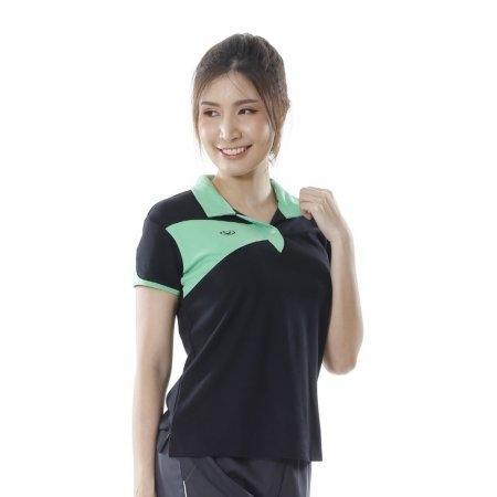 เสื้อคอปกแขนสั้นแกรนด์สปอร์ต(สีดำ)รหัส:028759