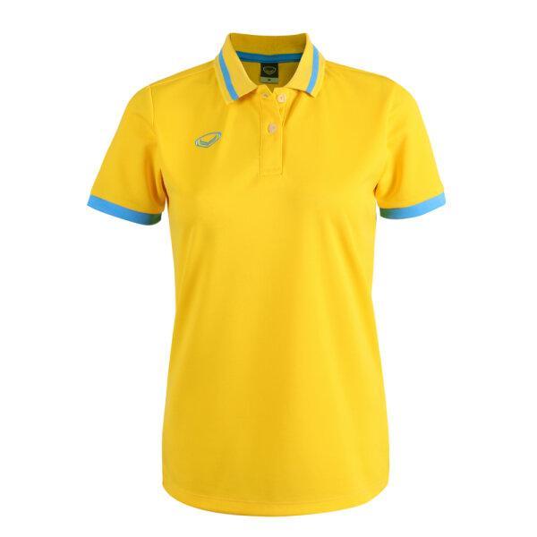 เสื้อโปโลหญิงแกรนด์สปอร์ต รหัสสินค้า : 012785 (สีเหลือง)