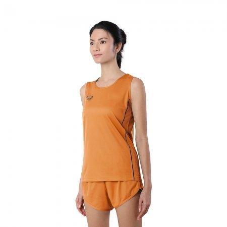 เสื้อวิ่งหญิงกุ้นด้านข้าง (Grand Sport RUNNING) รหัส: 017128 (สีส้ม)