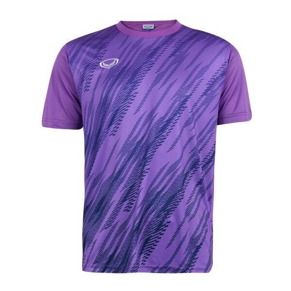 เสื้อกีฬาฟุตบอลพิมพ์ลาย แกรนด์สปอร์ต รหัส : 011559 (สีม่วง)