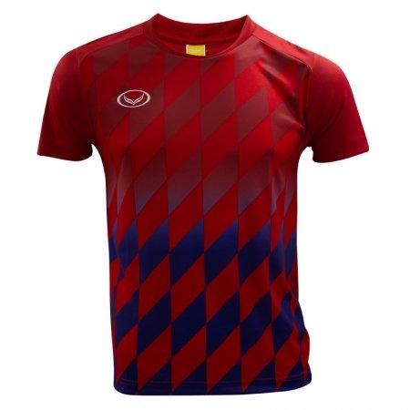 เสื้อกีฬาฟุตบอลแกรนด์สปอร์ต (สีแดง) รหัส:011436