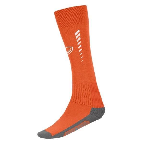 ถุงเท้ากีฬาฟุตบอลทอลาย แกรนด์สปอร์ต (สีส้ม)รหัสสินค้า : 025129