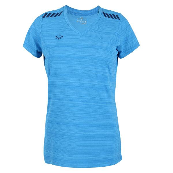 แกรนด์สปอร์ตเสื้อออกกำลังกายหญิง รหัส : 028784 (สีฟ้า)
