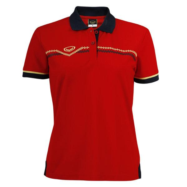 เสื้อคอปกหญิงแกรนด์สปอร์ต รหัสสินค้า : 012730 (สีแดง)