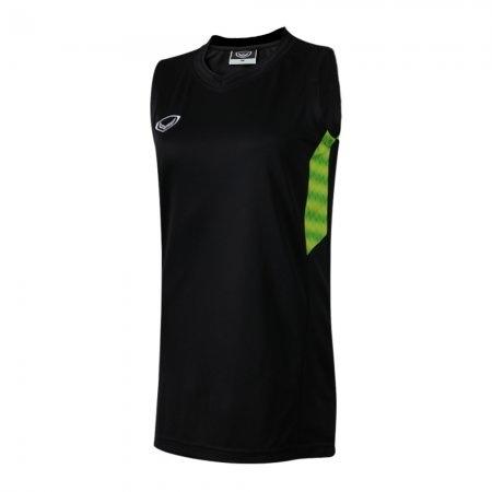 เสื้อบาสเกตบอลแกรนด์สปอร์ตหญิง(สีดำ)รหัส:013157