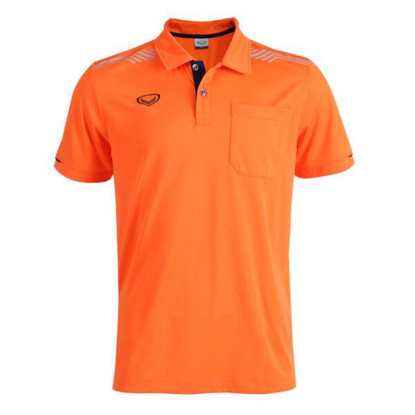 เสื้อโปโลชายแกรนด์สปอร์ต รหัส : 012581 (สีส้ม)