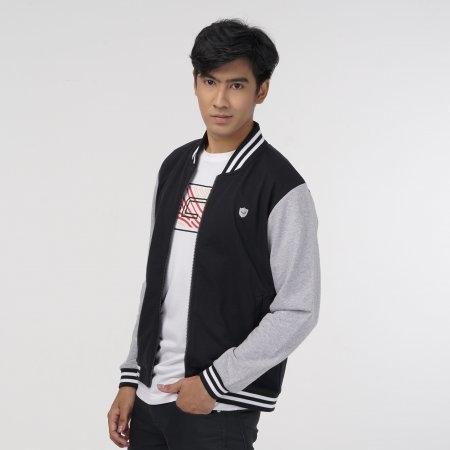 เสื้อแจ็คเก็ตแกรนด์สปอร์ต (สีดำเทา) รหัส: 023170