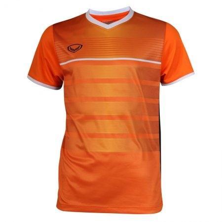 เสื้อกีฬาฟุตบอลพิมพ์ลาย  รหัส: 038275 (สีส้ม)