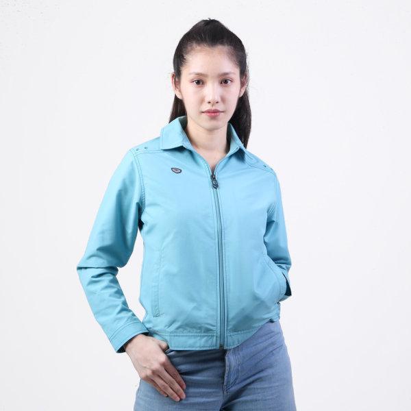 เสื้อแจ็คเก็ต(หญิง)แกรนด์สปอร์ต รหัสสินค้า : 020662 (สีฟ้าอ่อน)