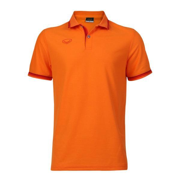 เสื้อโปโลชายแกรนด์สปอร์ต รหัสสินค้า : 012580 (สีส้ม)