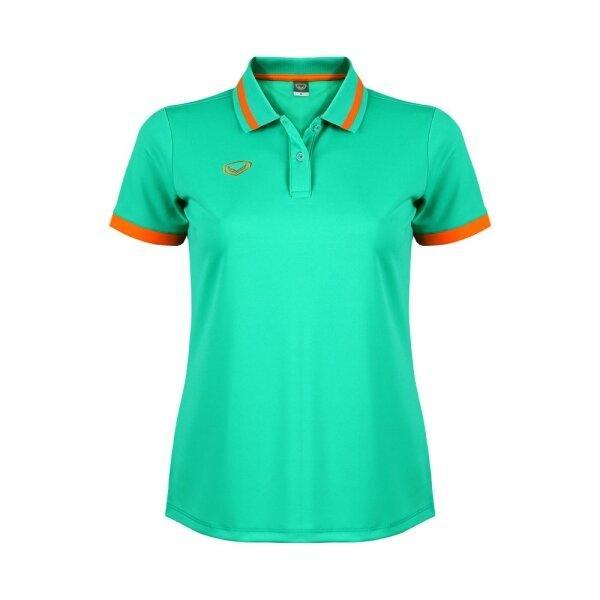 เสื้อโปโลหญิงแกรนด์สปอร์ต รหัสสินค้า : 012785 (สีเขียว)