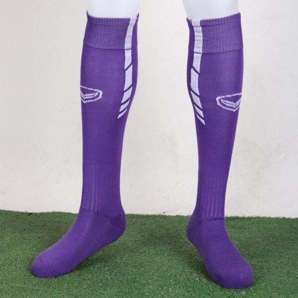 ถุงเท้าฟุตบอลสีล้วน รหัส :025098 (สีม่วง)