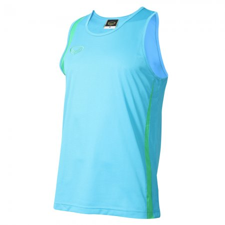 เสื้อวิ่งหญิงตัดต่อ (สีฟ้า) รหัส :017130