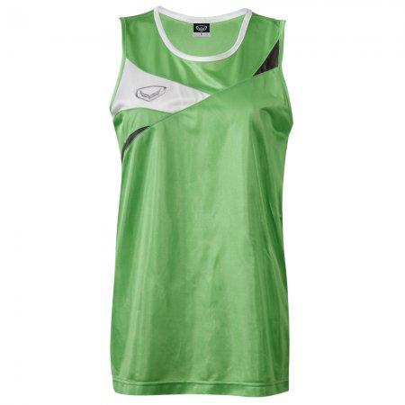 เสื้อวิ่งชายตัดต่อด้านหน้า(สีเขียว) รหัส :017109