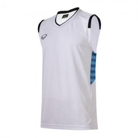 เสื้อบาสเกตบอลแกรนด์สปอร์ตชาย(สีขาว)รหัส:013156