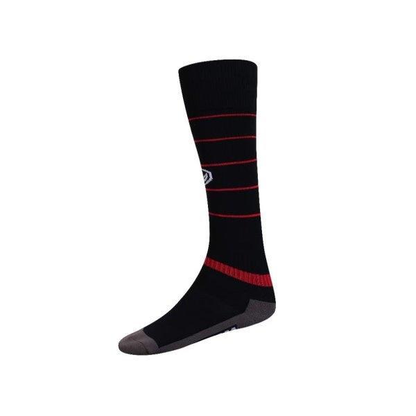 ถุงเท้ากีฬาฟุตบอลทอลาย  รหัส : 025134 (สีดำ)