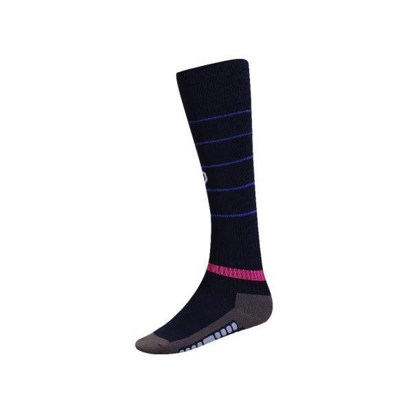 ถุงเท้ากีฬาฟุตบอลทอลาย  รหัส : 025134 (สีกรม)