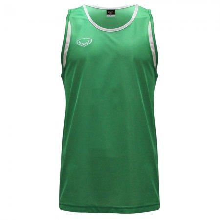 เสื้อวิ่งชายตัดต่อด้านหน้า(สีเขียว) รหัส : 017105
