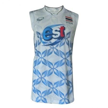 แกรนด์สปอร์ตเสื้อแข่งขันกีฬาวอลเลย์บอลชายทีมชาติ2017 รหัสสินค้า : 014224 (สีขาว)