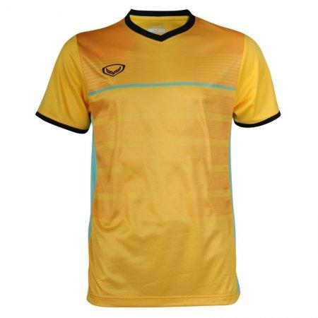 เสื้อกีฬาฟุตบอลพิมพ์ลาย รหัส: 038275 (สีเหลือง)