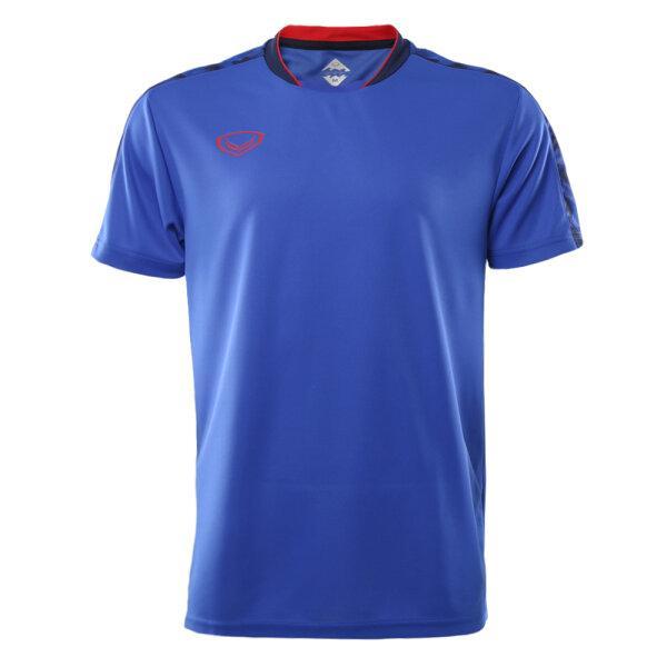 เสื้อคอปีนพิมพ์บ่า แกรนด์สปอร์ต (โอลิมปิก 2020) รหัส : 072049 (สีน้ำเงิน)