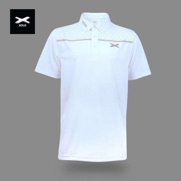 XOLO 3-COLOR STRIPES POLO SHIRT ( Anti-bacterial ) CODE : 040030 (ฺWhite)