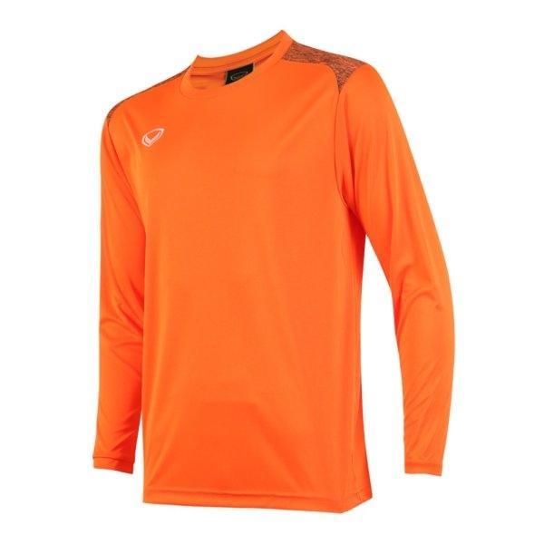 เสื้อกีฬาฟุตบอลแขนยาว แกรนด์สปอร์ต รหัส : 011475 (สีส้ม)