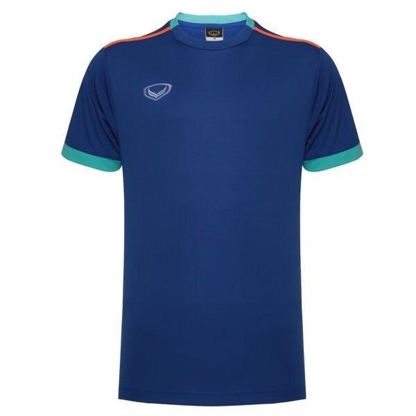 เสื้อกีฬาฟุตบอลตัดต่อ แกรนด์สปอร์ต  รหัสสินค้า : 011541 (สีน้ำเงิน)