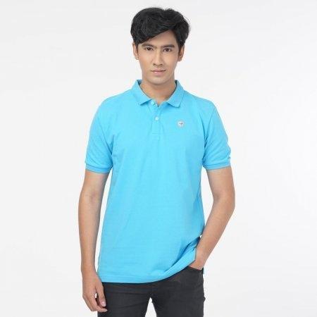 เสื้อโปโลแกรนด์สปอร์ตสีล้วน (สีฟ้า) รหัส :023162