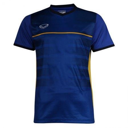 เสื้อกีฬาฟุตบอลพิมพ์ลาย  รหัส: 038275 (สีน้ำเงิน)