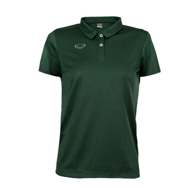 เสื้อโปโลหญิงพิมพ์แขน แกรนด์สปอร์ต รหัส : 012784 (สีเขียว)