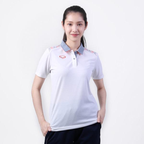 เสื้อโปโลหญิงแกรนด์สปอร์ต รหัส : 012776 (สีขาว)