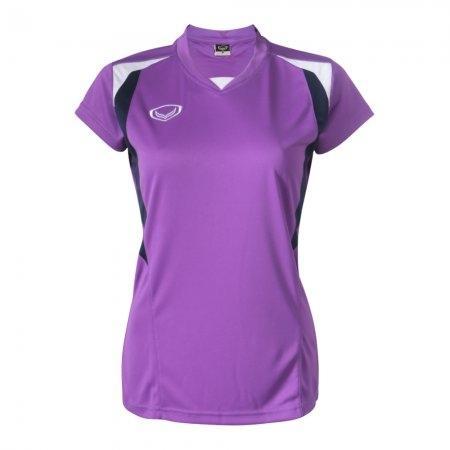 เสื้อกีฬาหญิงตัดต่อ แกรนด์สปอร์ต (สีม่วง) รหัส : 014243