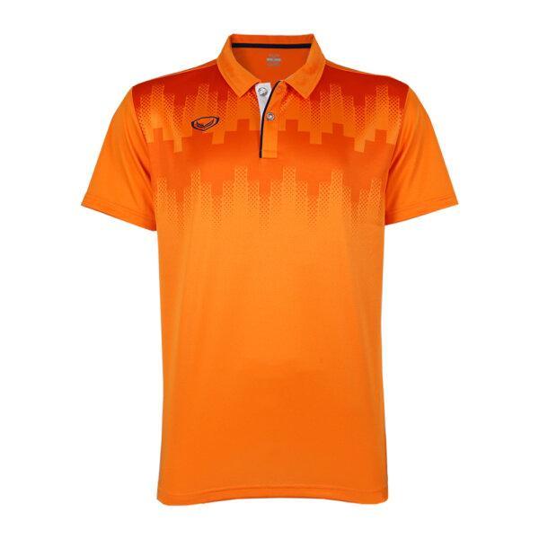 เสื้อโปโลพิมพ์หน้า แกรนด์สปอร์ต รหัส : 072047 (สีส้ม)