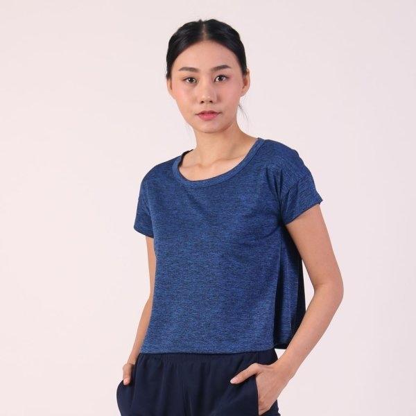 แกรนด์สปอร์ต เสื้อออกกำลังกายผู้หญิง (สีน้ำเงิน) รหัสสินค้า : 028792