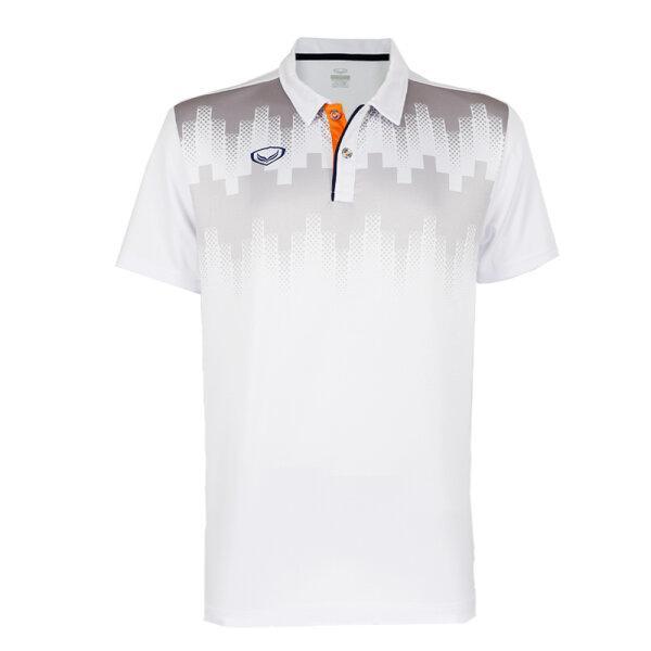 เสื้อโปโลพิมพ์หน้า แกรนด์สปอร์ต รหัส : 072047 (สีขาว)