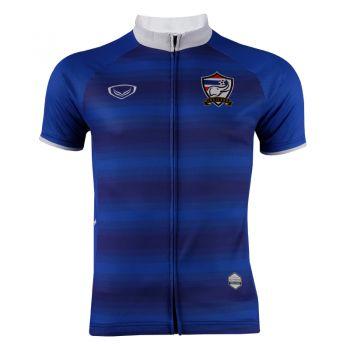 เสื้อจักรยานแกรนด์สปอร์ต(พิมพ์ลายฟุตบอลทีมชาติไทย) (สีน้ำเงิน)
