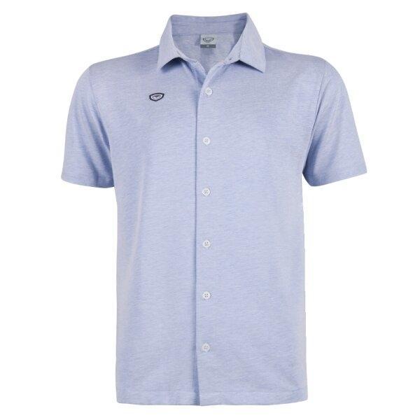 เสื้อเชิ๊ตผ่าหน้าแกรนด์สปอร์ต รหัส : 012247(สีฟ้า)