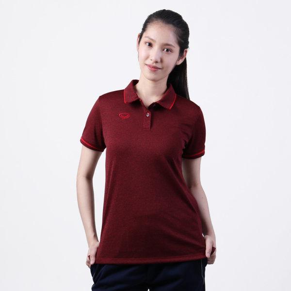 เสื้อโปโลหญิงแกรนด์สปอร์ต รหัส :012777 (สีแดง)