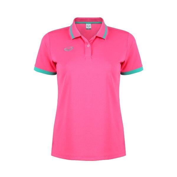 เสื้อโปโลหญิงแกรนด์สปอร์ต รหัสสินค้า : 012785 (สีชมพู)
