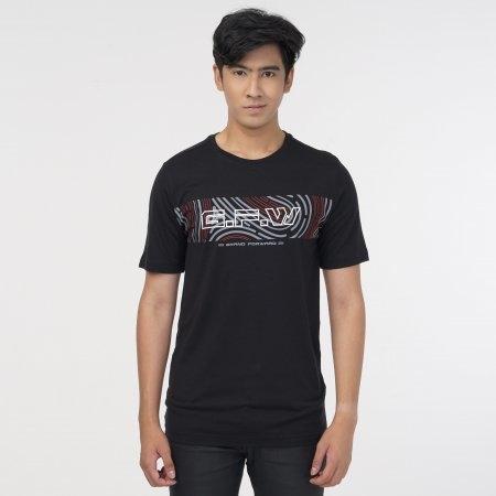 เสื้อ T-shirt พิมพ์ GFW สีดำ รหัส :023166