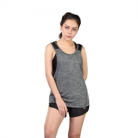 เสื้อแขนกุด รหัสสินค้า:028378(สีเทา)