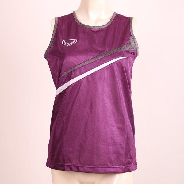เสื้อกล้ามหญิงตัดต่อ รหัส : 017091(สีม่วง)
