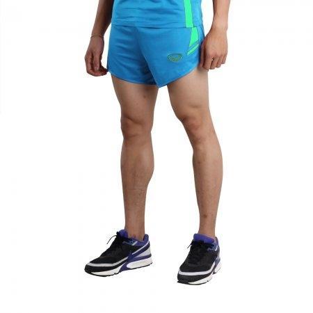 กางเกงวิ่งตัดต่อ (สีฟ้า) รหัส : 007129