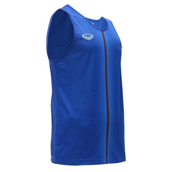 เสื้อวิ่งชายพิมพ์ลายด้านหน้า รหัสสินค้า : 017146 (สีน้ำเงิน)